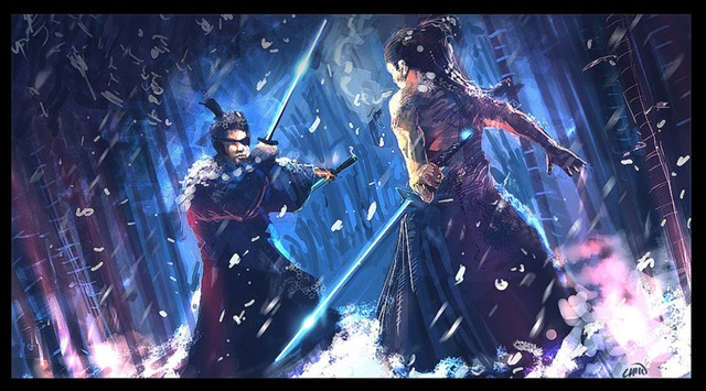 Samurai_clash_in_snow_by_Chenzan